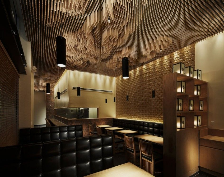 "Takeshi Sano for the Tsujita restaurant in Los Angeles ""Wooden Sticks Clouds"""