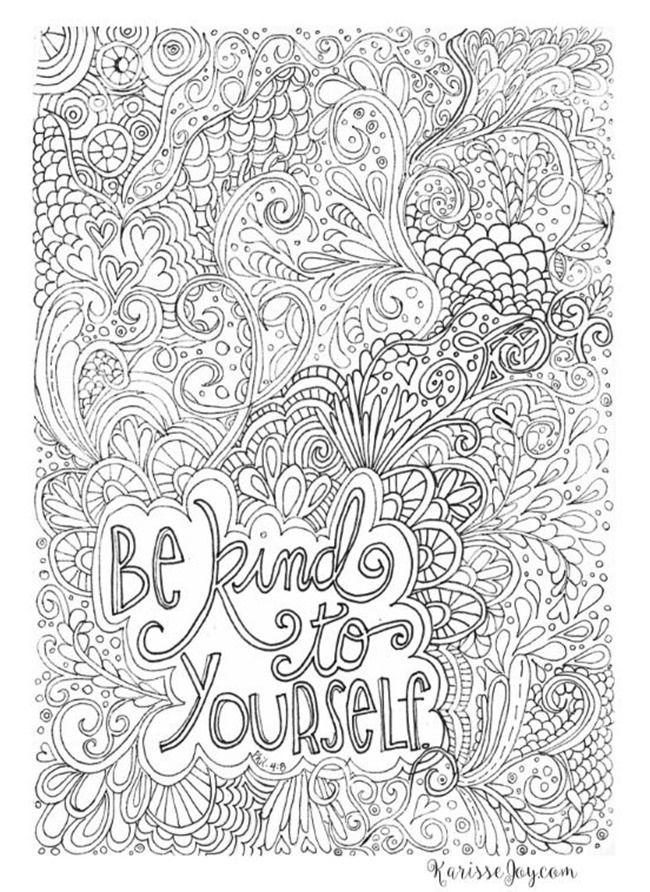 photo regarding Free Printable Quote Coloring Pages for Adults identify 12 Inspiring Quotation Coloring Internet pages for AdultsFree Printables