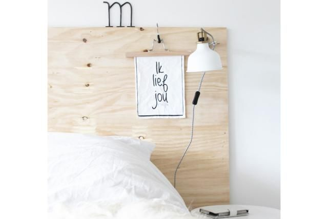 17 DIY Headboards Ideas That Will Wake Up Your Tired Bedroom: DIY Plywood  Headboard
