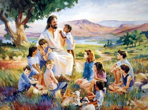 bijbelverhaal jezus en de kinderen jezus heeft lief