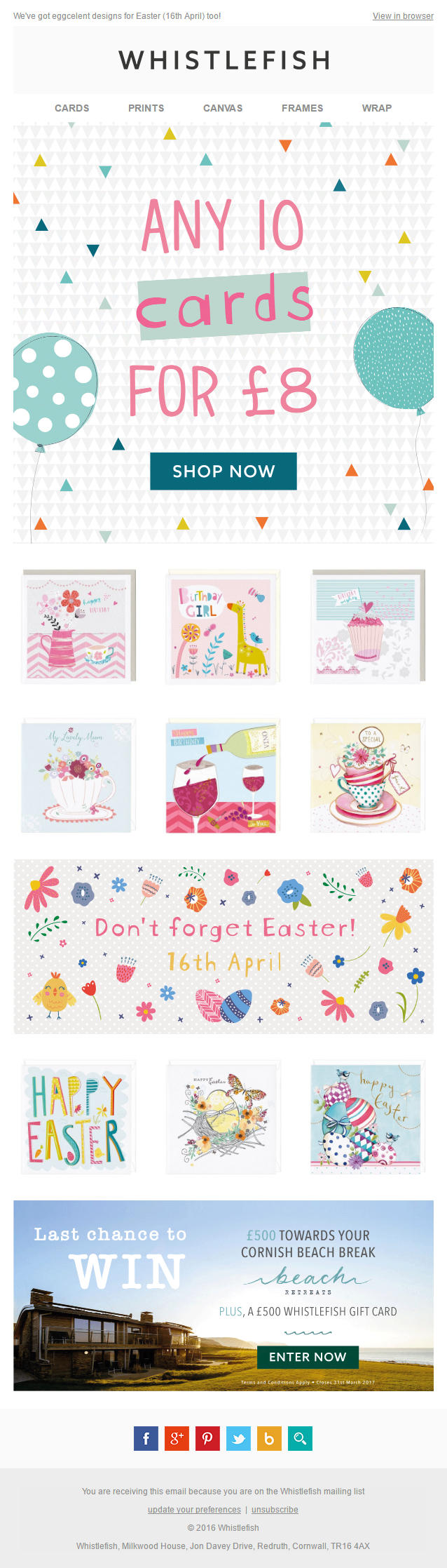 Easter email from whistlefish with offer emailmarketing email easter email from whistlefish with offer emailmarketing email marketing easter cards gifts negle Gallery