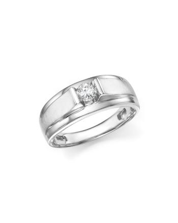 Bloomingdale S Diamond Men S Ring In 14k White Gold 33 Ct T W