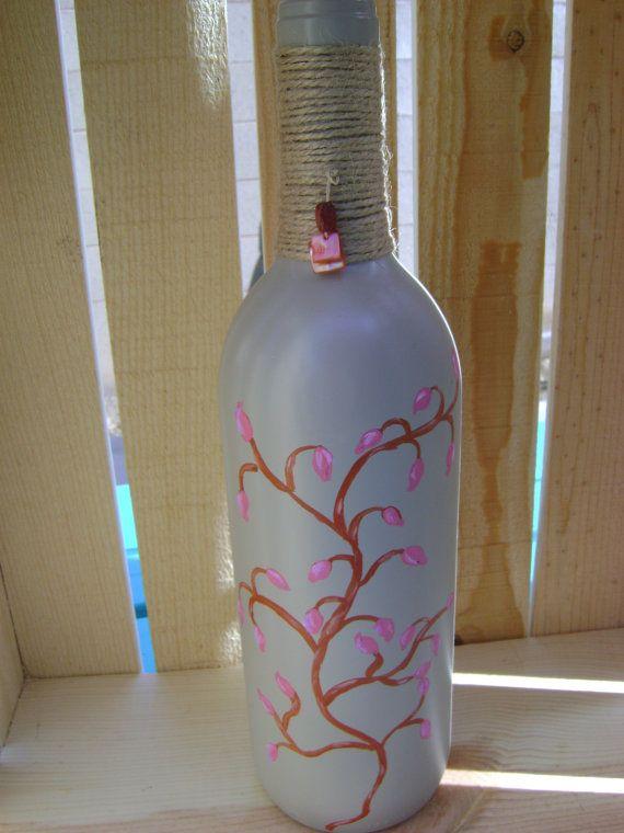 Botellas de vino tranquilo por PeaceofMindByNatalie en Etsy