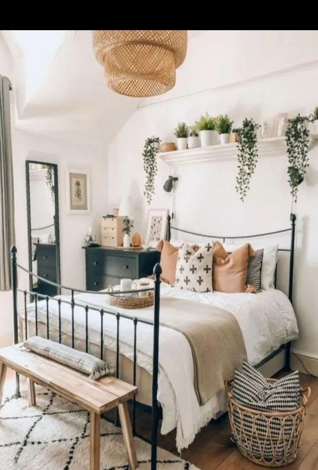 47 Cool Urban Farmhouse Master Bedroom Makeover Ideas in ... on Boho Master Bedroom Ideas  id=84078