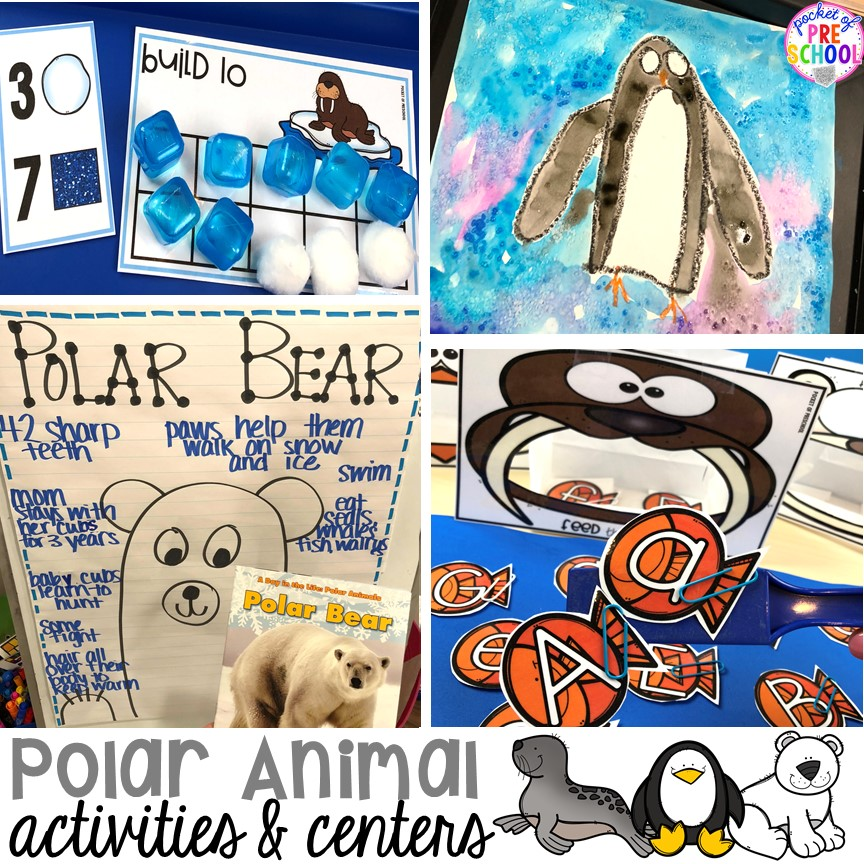 Polar Animal Themed Activities and Centers Polar animals