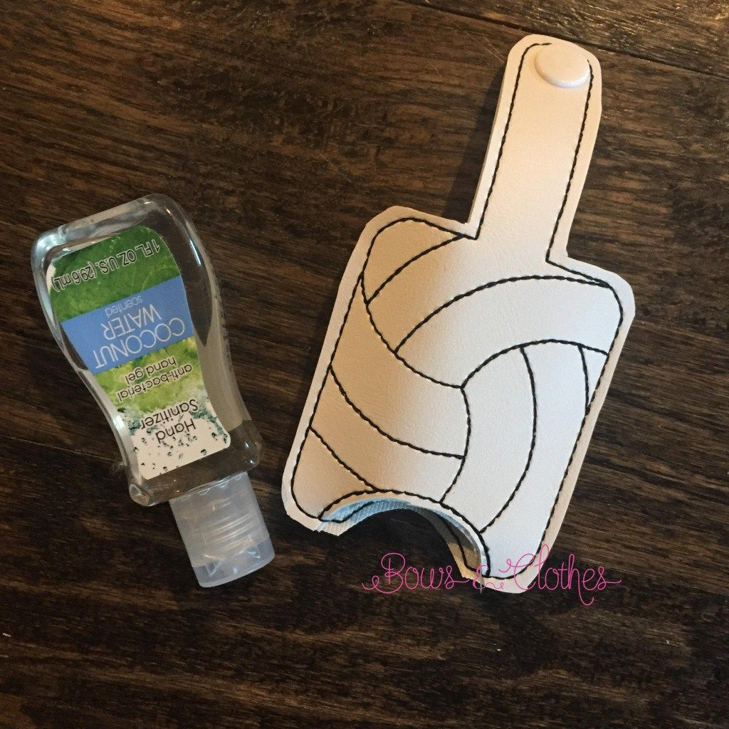 Volleyball Hand Sanitizer Case Snap In Back Hand Sanitizer