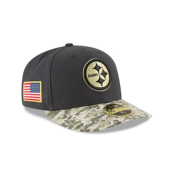 Picture of Pittsburgh Steelers New Era 2016 59FIFTY Low Crown Sideline  Salute to Service (STS) Cap c0b0a199d
