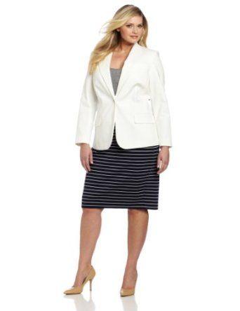 70d94d050f7 Vince Camuto Women s Plus-Size One Button Blazer
