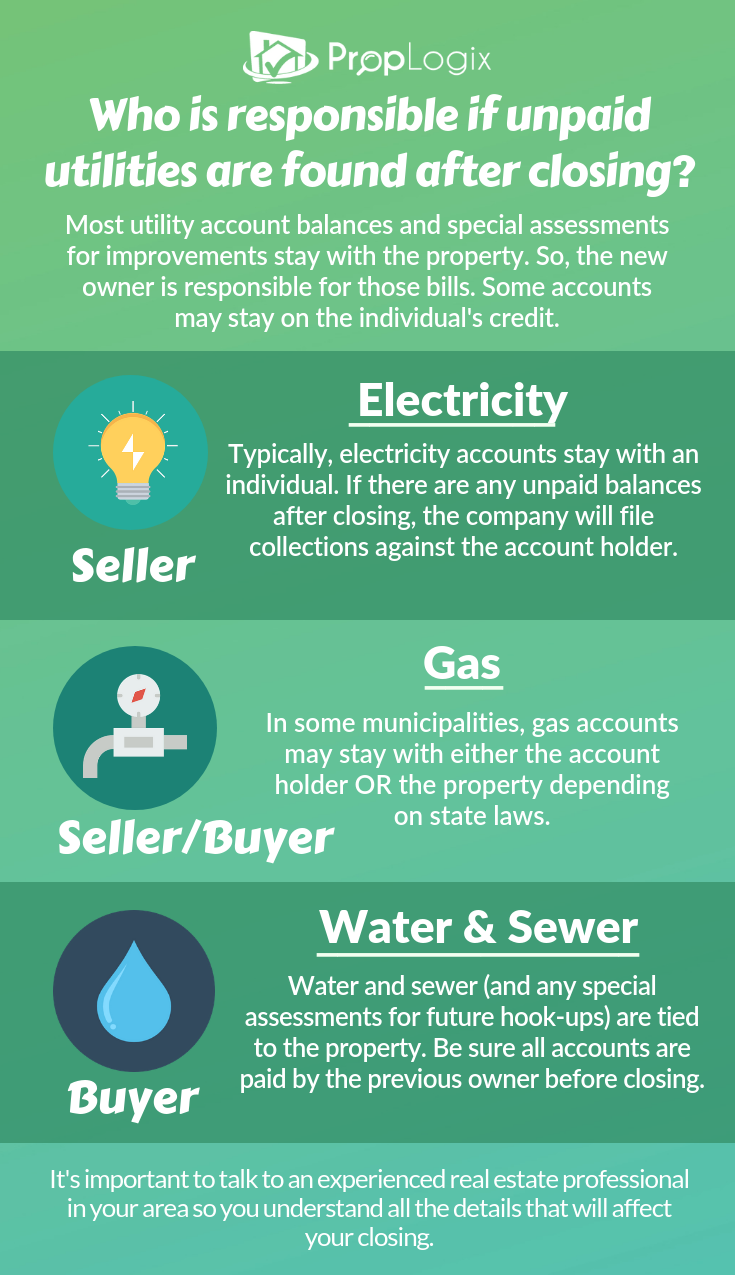 Is a new homeowner responsible for previous utility bills? | The