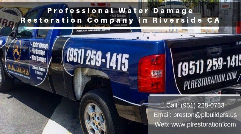 Professional water damage restoration company in riverside