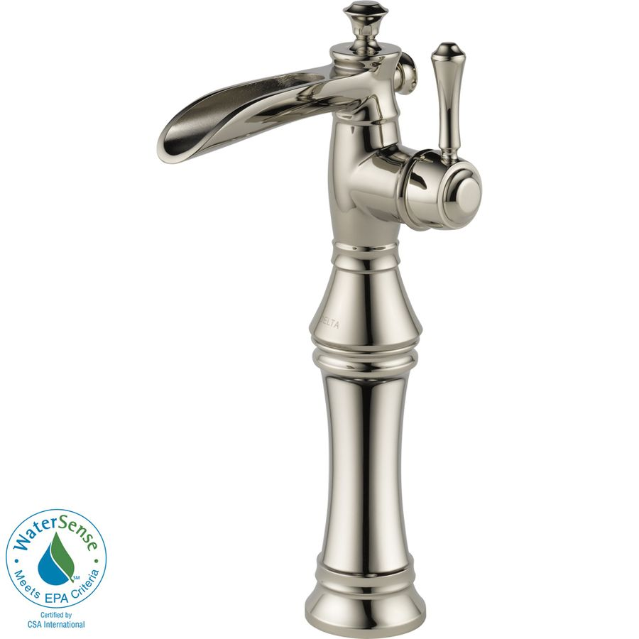 Delta Cassidy Polished Nickel 1Handle Single Hole Watersense Impressive Delta Single Hole Bathroom Faucet Inspiration Design