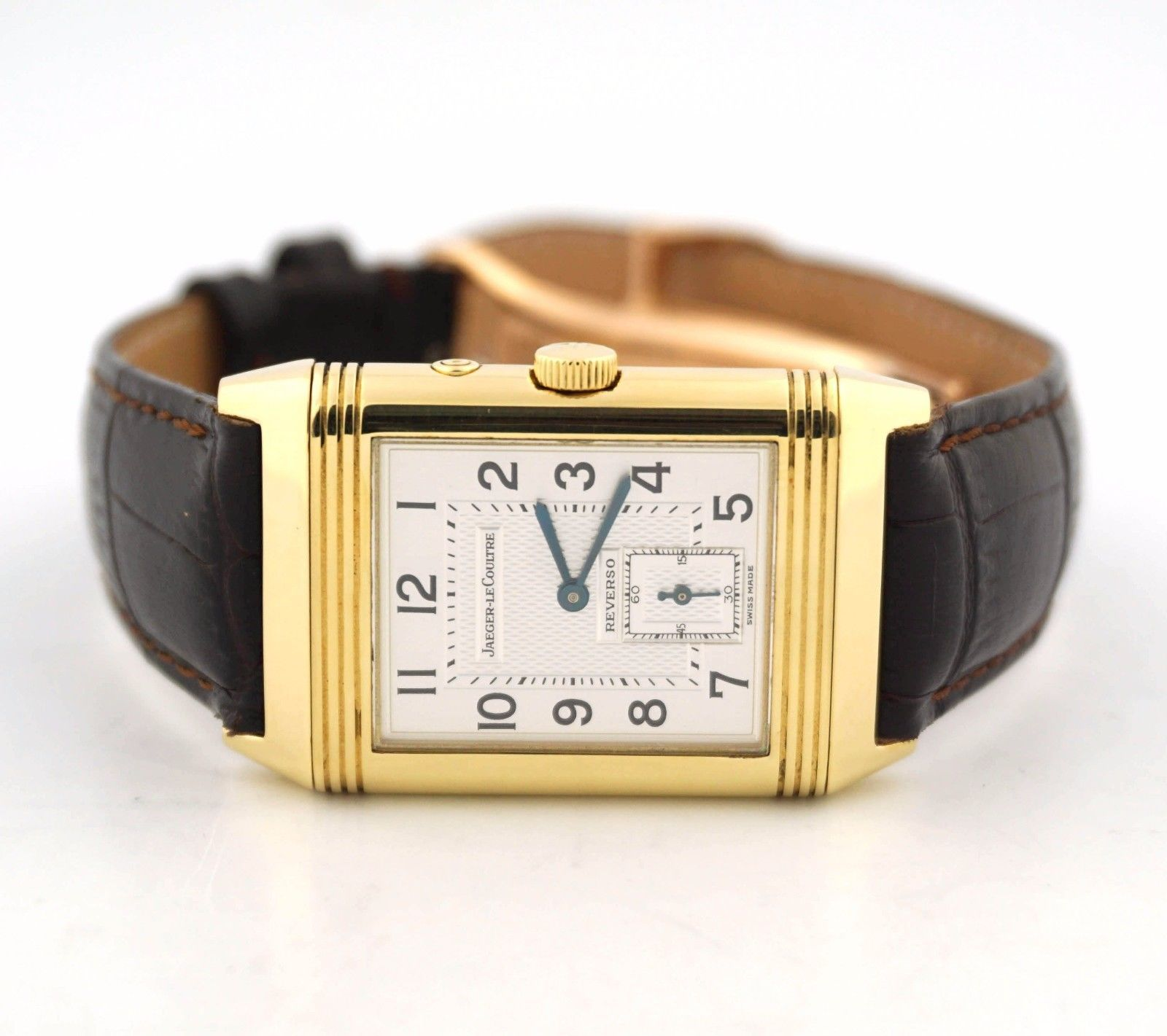 aab68d30cb07 JAEGER-LECOULTRE REVERSO DUO NIGHT DAY 18K YELLOW GOLD 270.1.54 WATCH