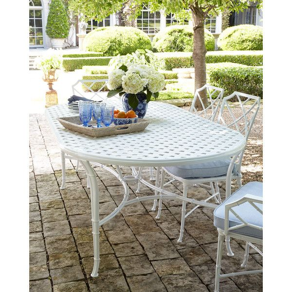 brown jordan calcutta outdoor dining table nok liked on polyvore featuring home