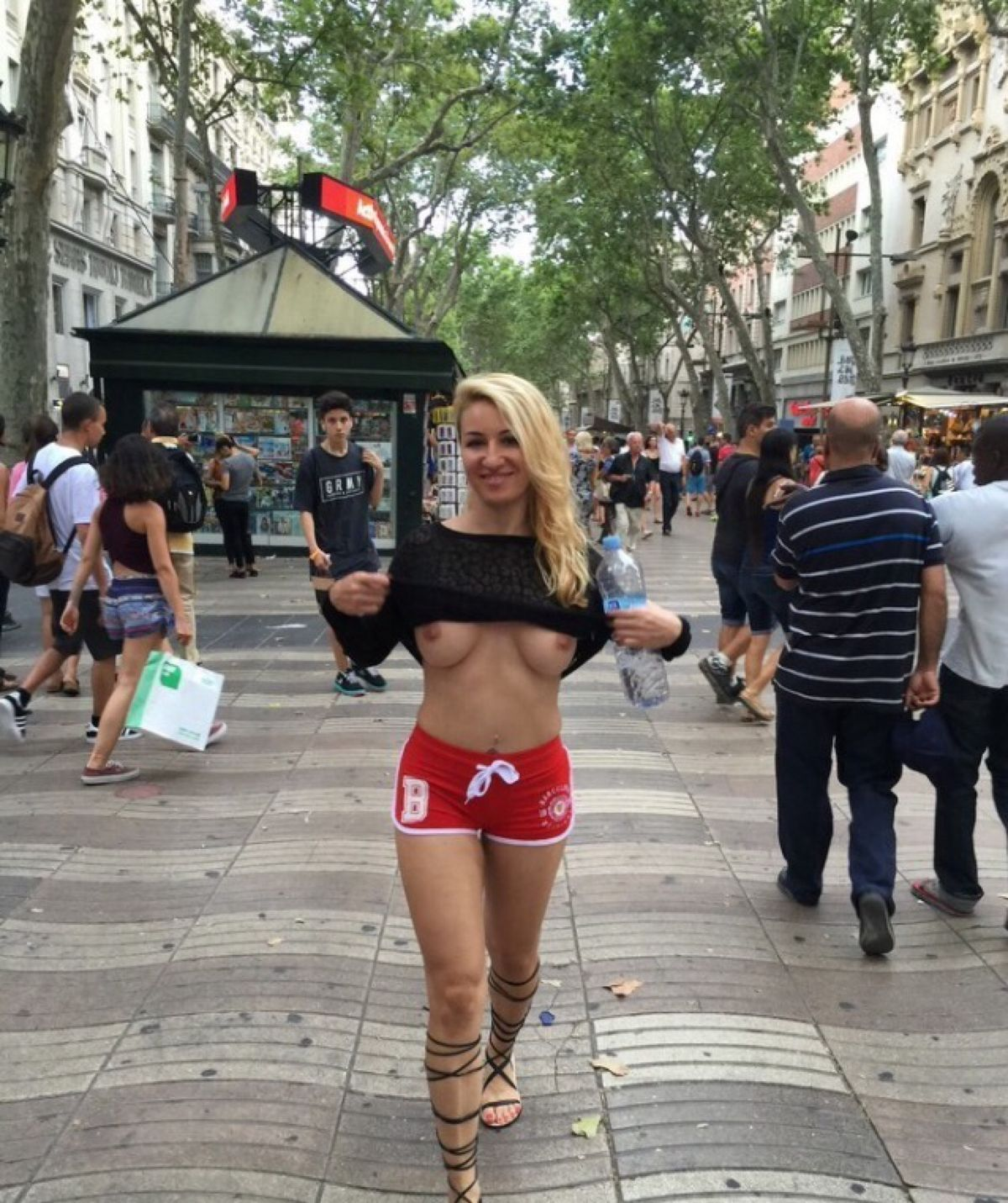 Girl Flashing People