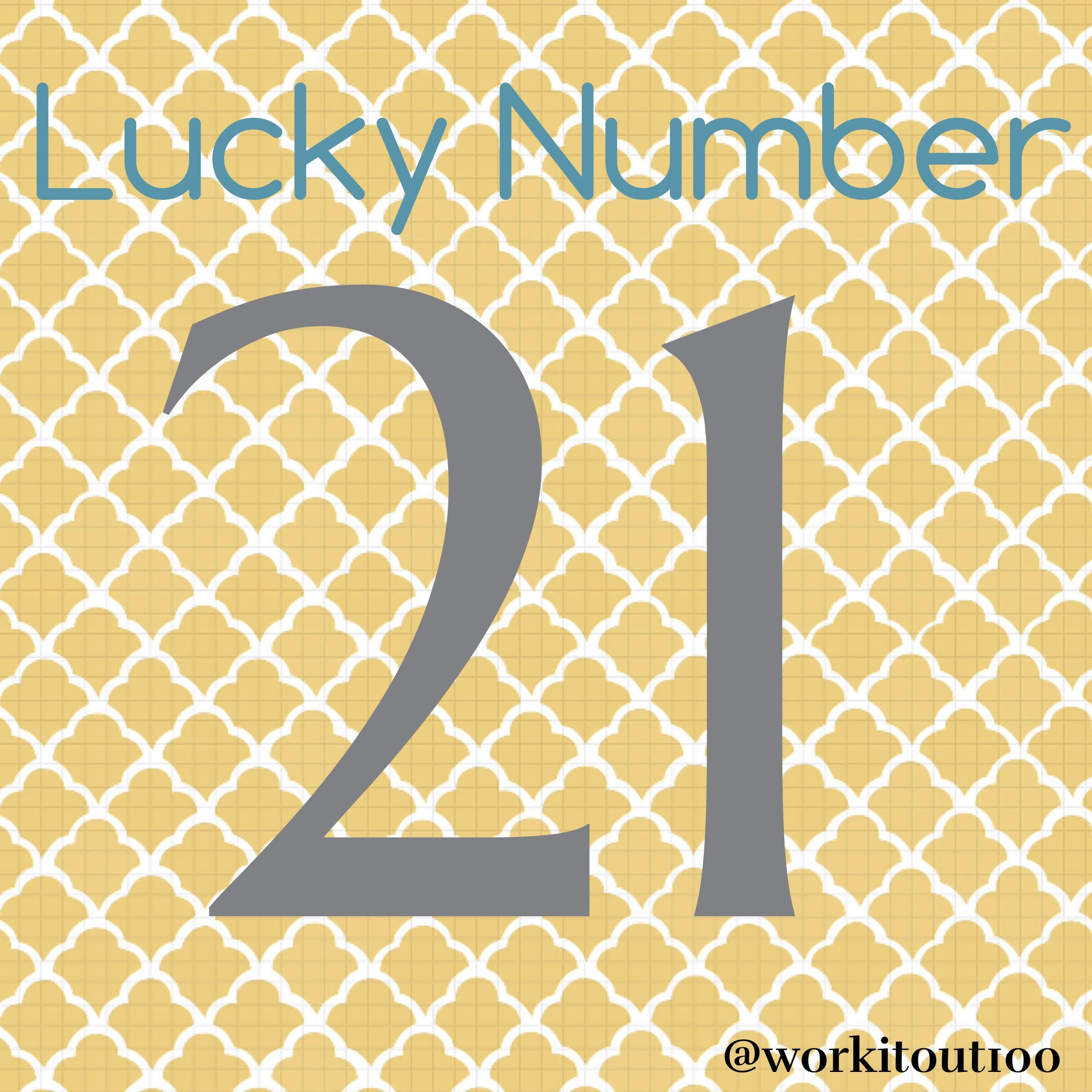 Lucky Number 21 | Health Nut | Pinterest | Lucky number on