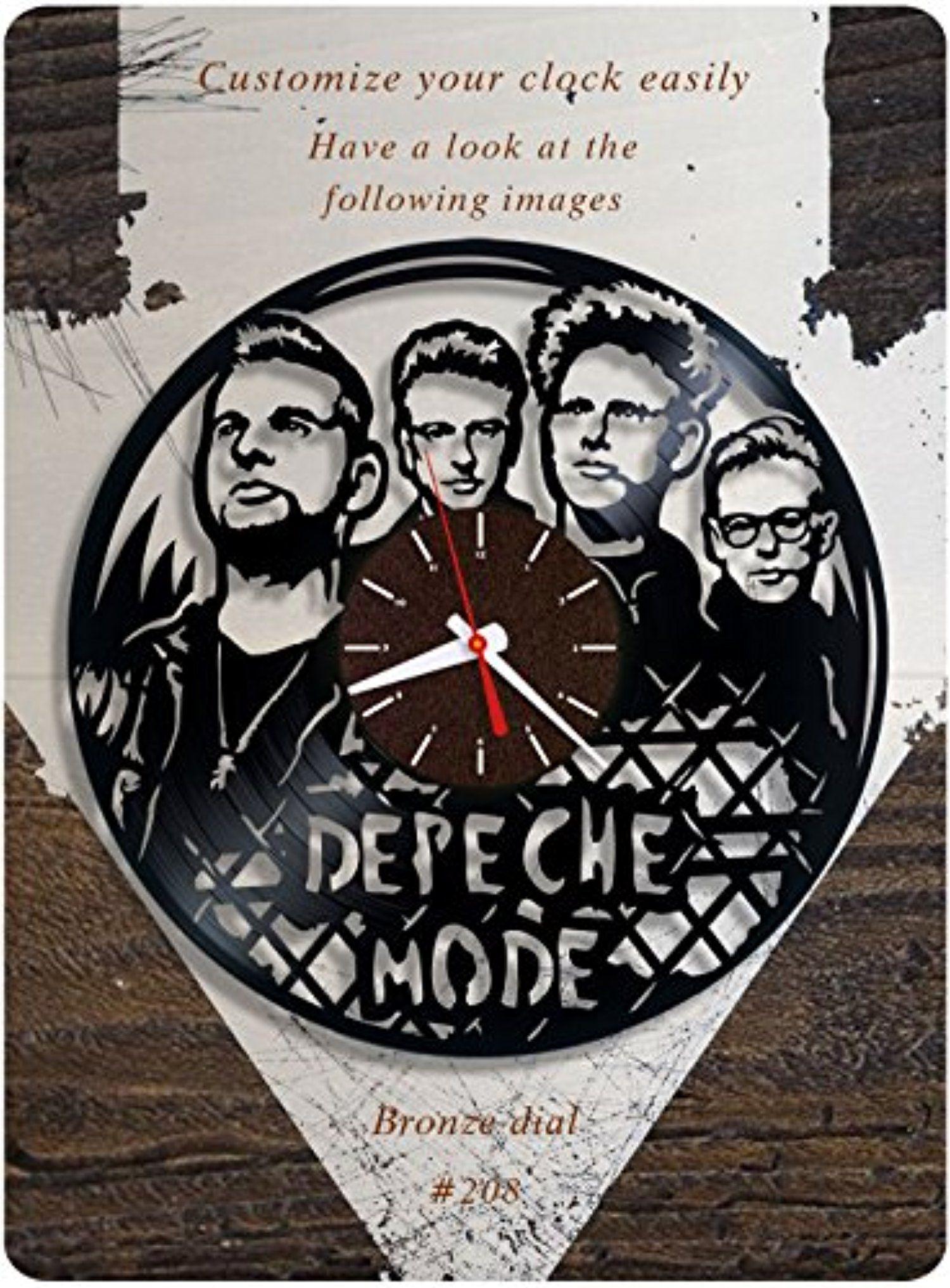 Depeche Mode Vinyl Clock Vinyl Wall Clock Vinyl Record Clock The Most Popular Electronic Band Dave Gahan Mar Vinyl Record Clock Record Clock Vinyl Record Art