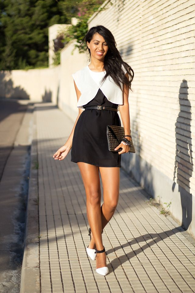Black and white #outfit. #Persunmall #dress