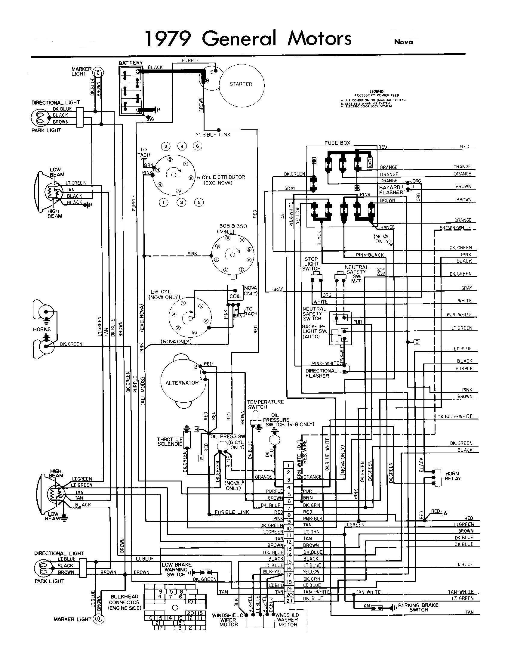ignition switch wiring diagram of a 67 nova