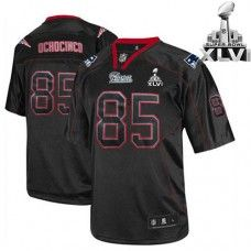 1b693c009 Patriots  85 Chad OchoCinco Lights Out Black Super Bowl XLVI Stitched NFL  Jersey