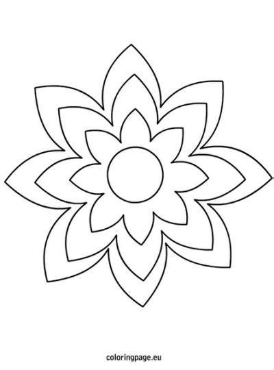 large printable flower template virág sablonok pinterest