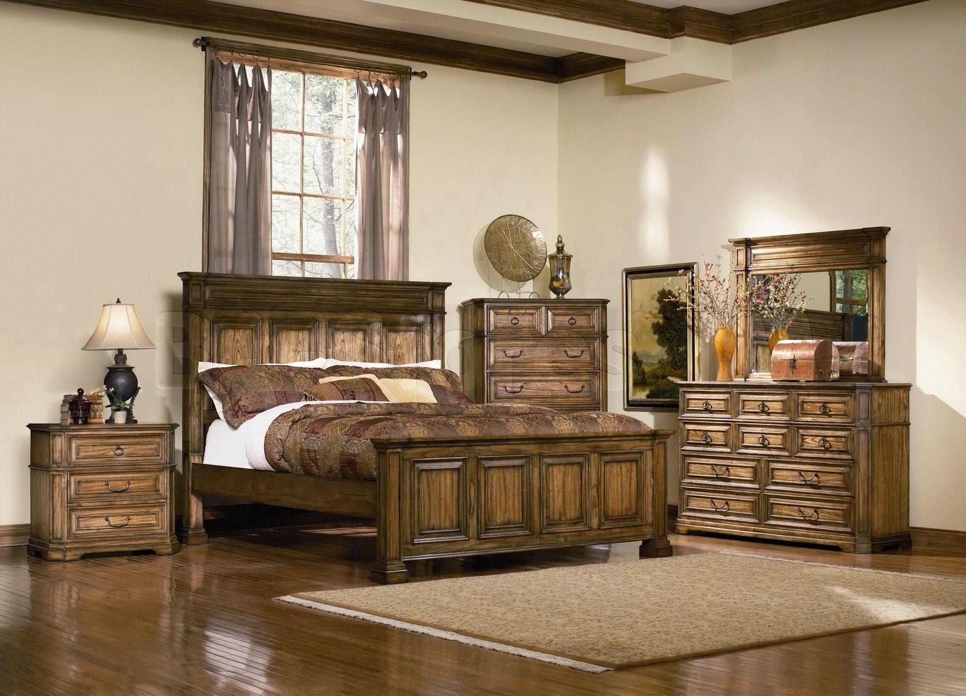 Edgewood pc bedroom set bed nightstand dresser mirror and