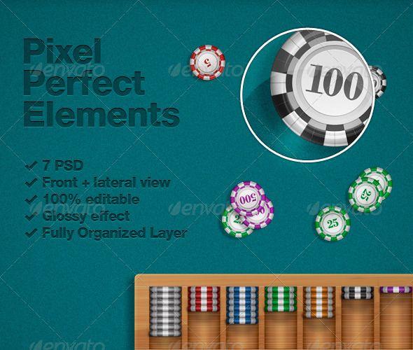 Poker Chips Psd Poker Chips Game Assets Chips