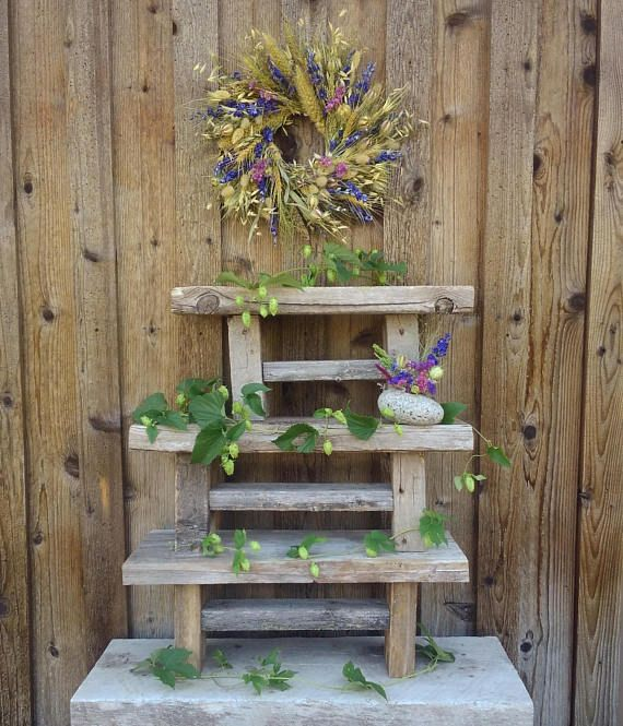 Rustic Wooden Bench Small Wooden Bench Book Stand