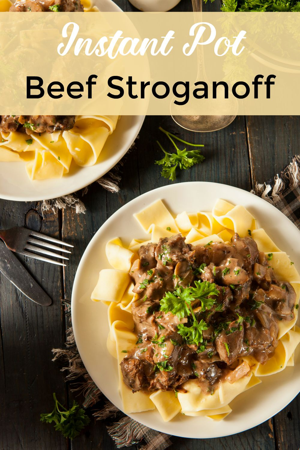 The Best Instant Pot Beef Stroganoff Made Easy With Noodles And Sour Cream One Of My Fami Beef Recipes Instant Pot Recipes Beef Stroganoff Instant Pot Recipe