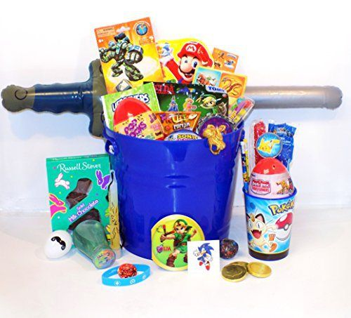 Video gamer easter candy toy gift basket with pokemon skylanders video gamer easter candy toy gift basket with pokemon skylanders zelda sonic negle Image collections