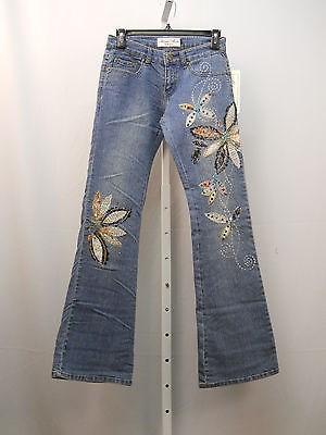 22.35$  Buy now - http://vilon.justgood.pw/vig/item.php?t=oke9z016871 - Women Jeans Size 1-2 MILANO MODA Boot Cut Legs Stonewashed Embellished 26X33 22.35$