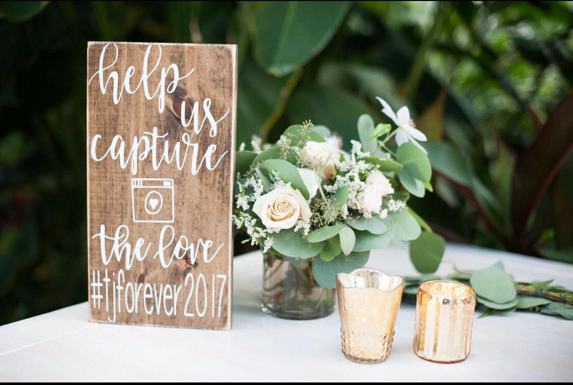42++ Wedding hashtag sign wood ideas
