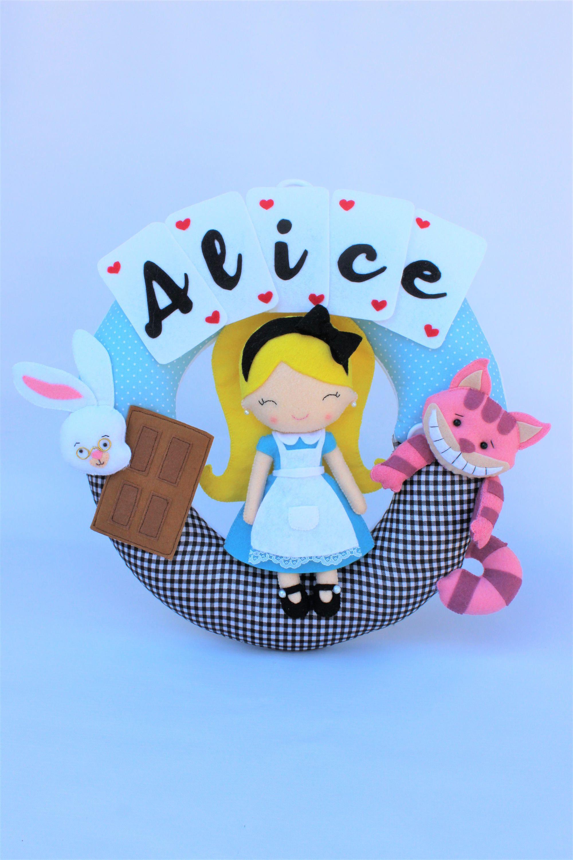 Alice In Wonderland Decoration Nursery Decor Personalized Baby