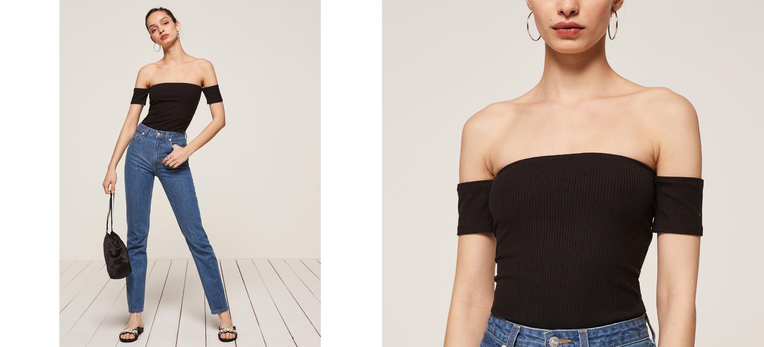 Lita top neckline shoulder and clothing