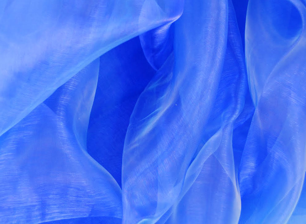 "Organza 90"" Square Table Overlay - Royal Blue"