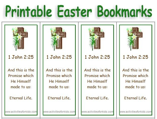 Free Printable Easter Bookmarks - Select Picture, add Text Easter