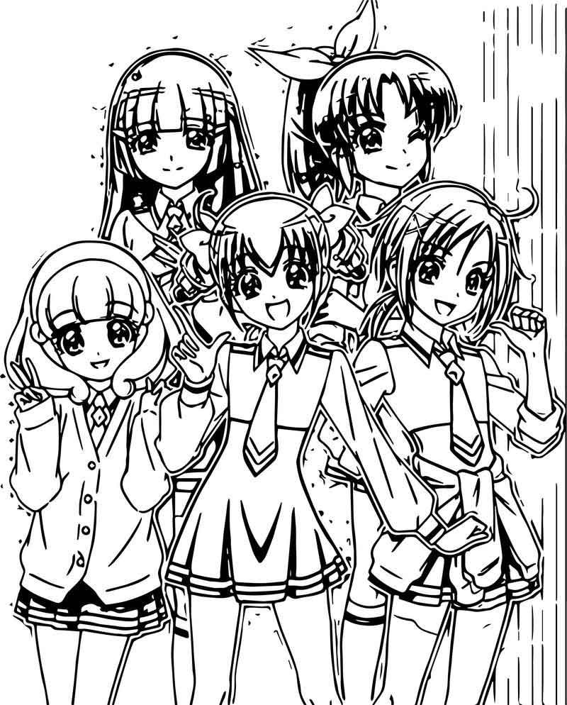 Glitter Force Girls Team Coloring Page Glitter Force Coloring Pages For Girls Coloring Pages