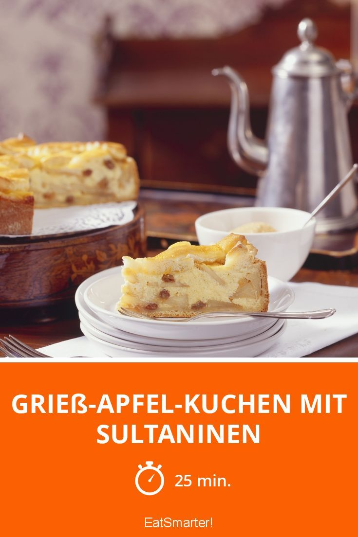 Griess Apfel Kuchen Mit Sultaninen Rezept Backwaren
