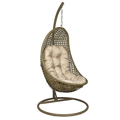 Debenhams Light brown rattan-effect \'LA Malibu\' garden hanging chair ...