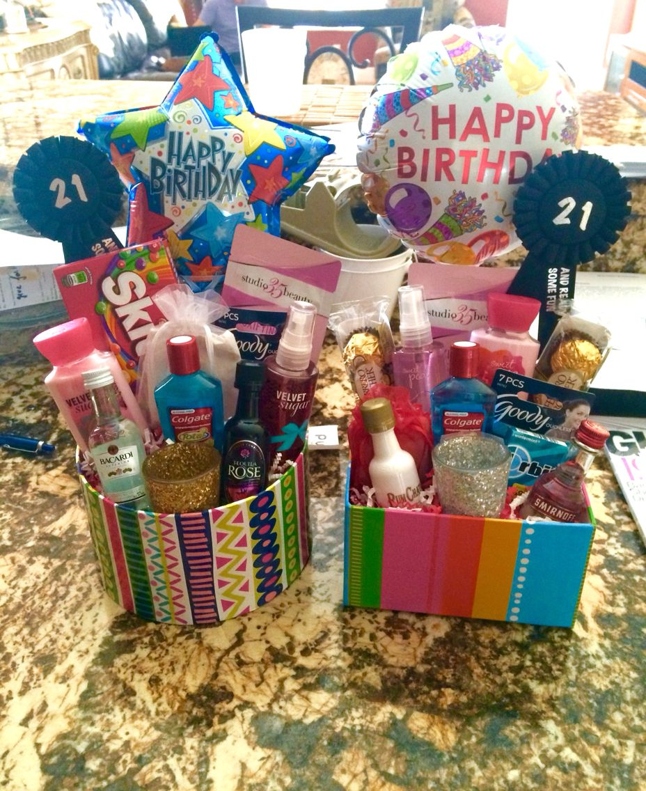21st Birthday Gift For Girls. With Sparkly Shot Glasses