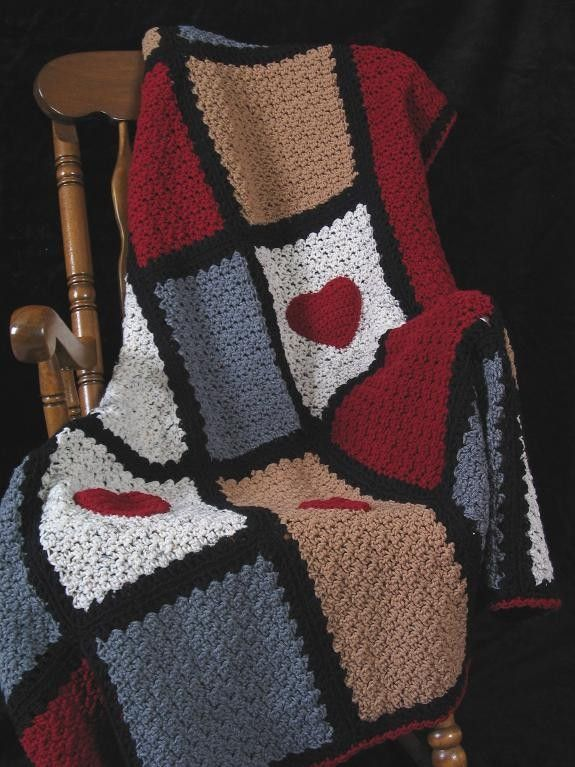 Crochet Heart Blanket Patterns | Tejido | Pinterest | Manta, Mantita ...