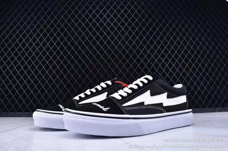 Champion Vans X Revenge X Storm Pop Up Store Lighting Black White Old Skool Vans Vans Sneaker Sneakers