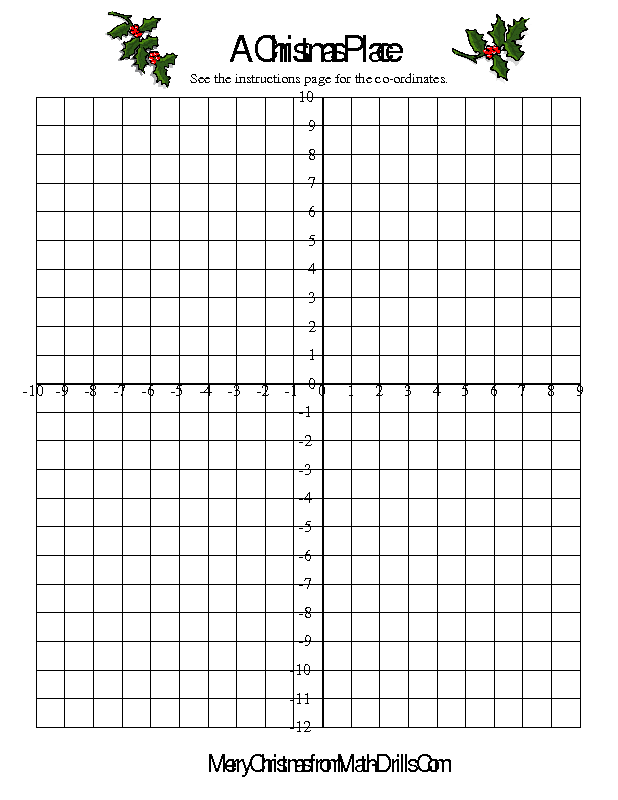 Christmas Math Worksheet Co Ordinate Geometry Activity Mrs