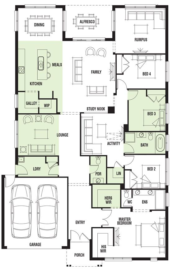 Porter Davis Homes House Design Vancouver Single Storey House Plans Floor Plans Home Design Floor Plans