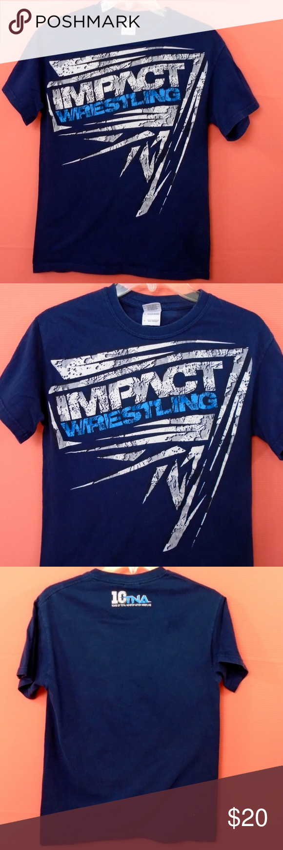 Impact Wrestling TNA Blue WWE WWF Shirt (With images
