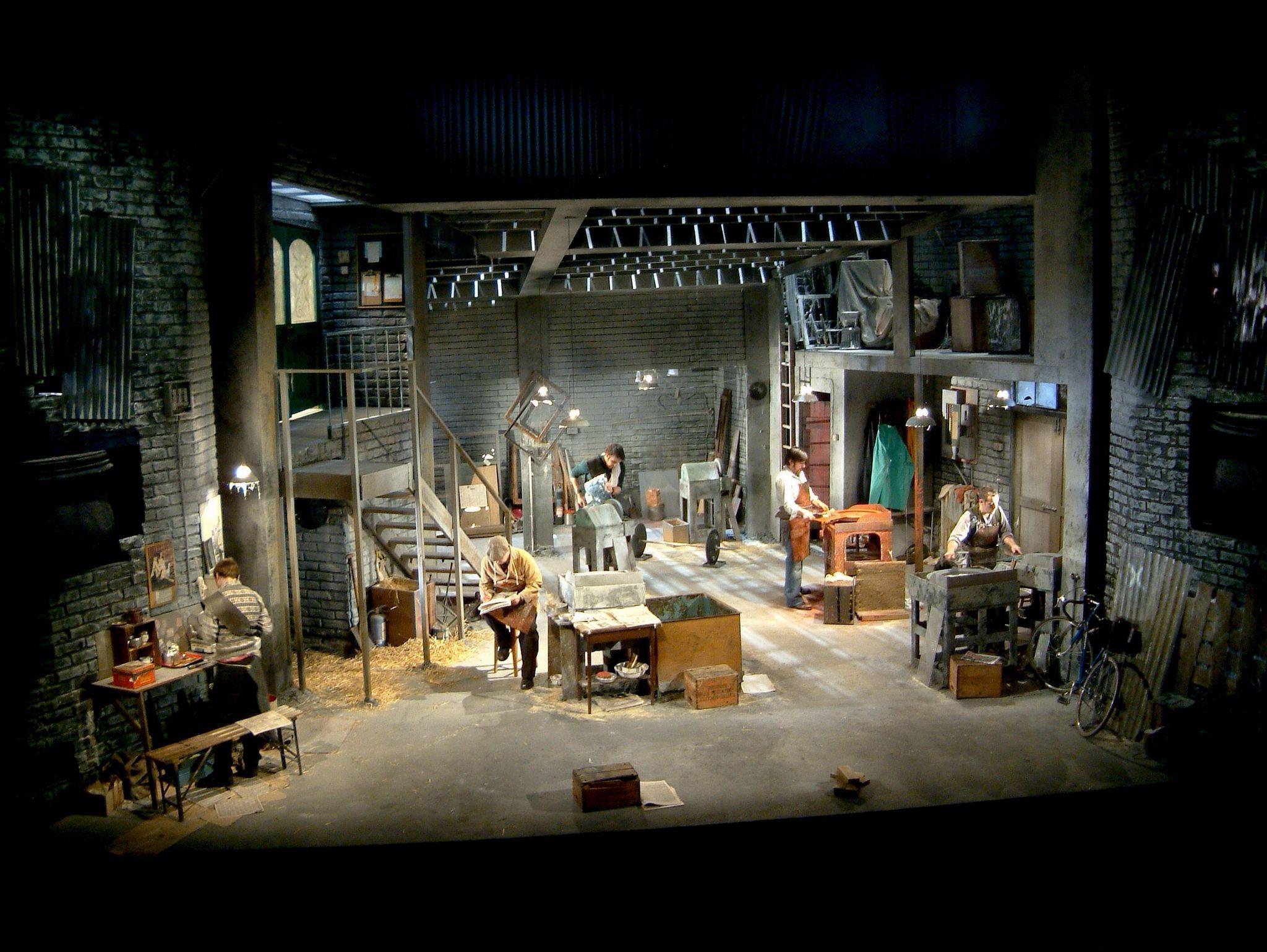 The Bevellers. Citizens Theatre Glasgow. Design by Jason Southgate.    Design, Settings, Set design