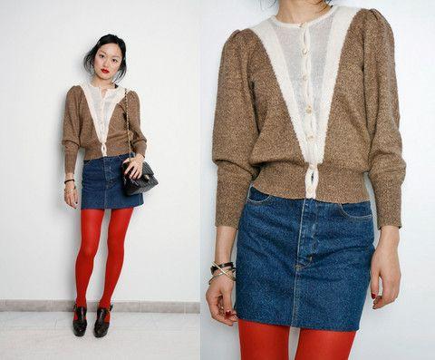 cardigan vintage - Cerca con Google | Fashion knitwear | Pinterest
