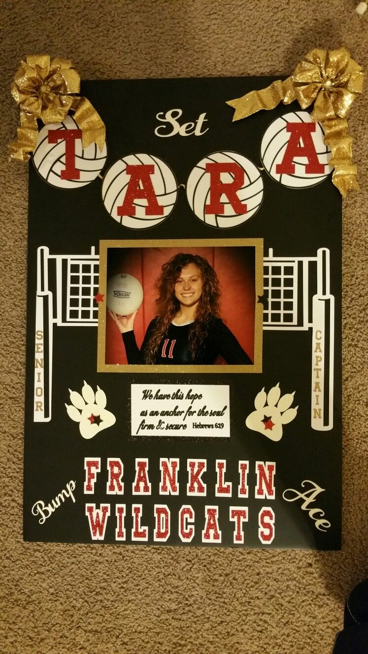 Volleyball Senior Poster 2017 Senior Night Posters Volleyball Posters