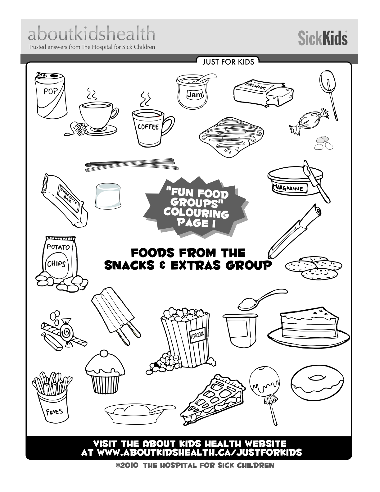 Colouring page for kids - the \