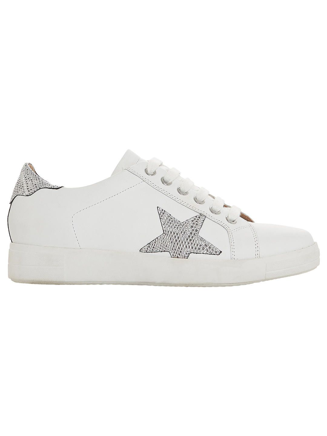 Dune Edris Lace Up Star Trainers, Grey