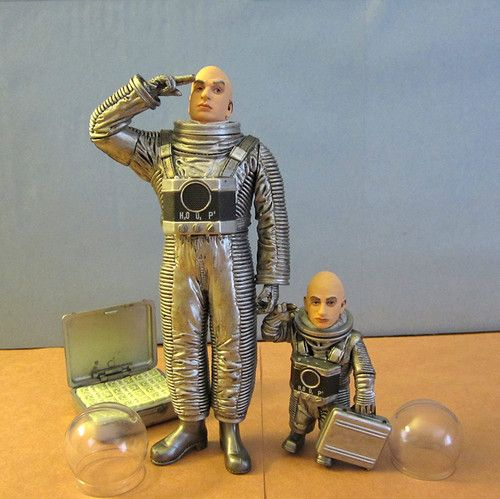 Dr Evil Mini Me Moon Mission Action Figures Mcfarlane Austin